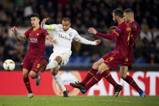 Europa League - AA Gent houdt kansen op kwalificatie gaaf na 1-0 nederlaag bij AS Roma