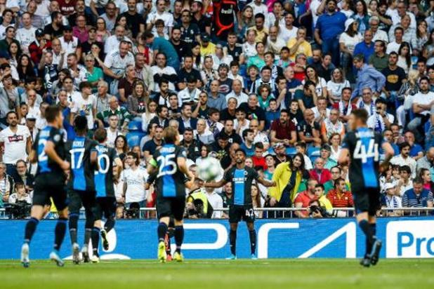 Club Brugge geeft voorsprong weg, maar pakt nog punt bij Real Madrid