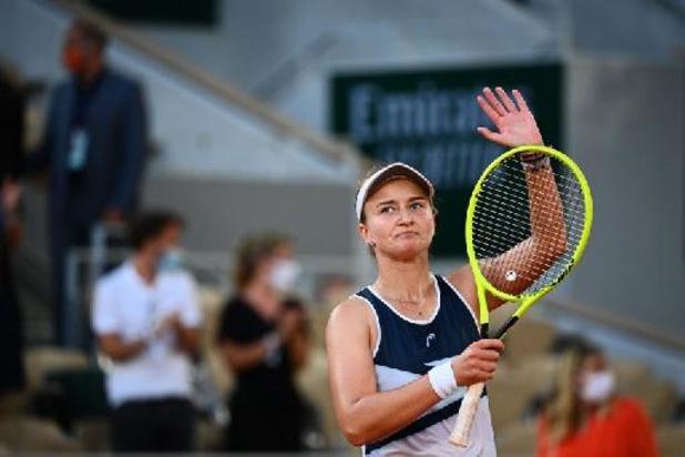 Après une place en finale en simple, Krejcikova s'offre une place en finale en double