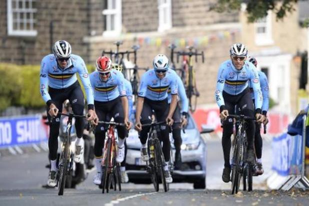 Mondiaux de cyclisme: une équipe belge solide à l'assaut d'un maillot arc-en-ciel aux nombreux prétendants