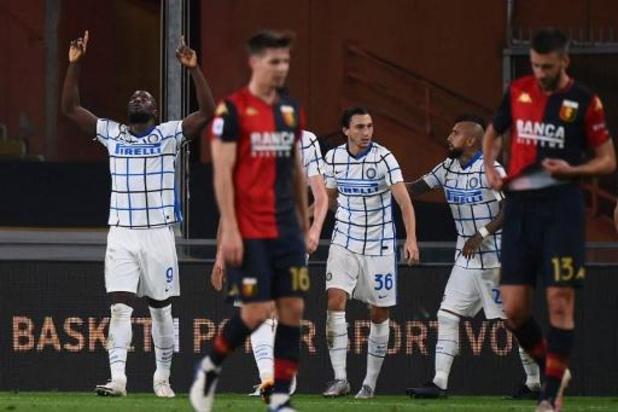 Belgen in het buitenland - Inter Milaan wint met 0-2 bij Genoa, Romelu Lukaku scoort