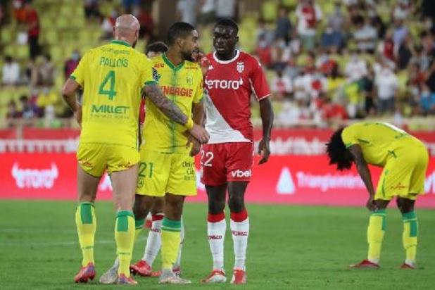 Les Belges à l'étranger - Nantes, avec Renaud Emond en fin de match, débute par un partage à l'AS Monaco
