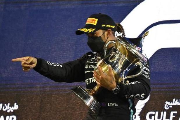 F1 - Bahreïn - Hamilton ne pensait pas pouvoir garder Verstappen derrière lui