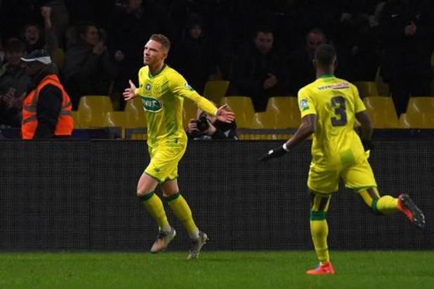 Les Belges à l'étranger - Le premier but d'Emond et un assist de Limbombe ne suffisent pas à Nantes pour battre Lyon