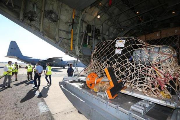 Explosie Beroet: C-130 met 63 kubieke meter hulpmateriaal vertrekt vanop Melsbroek