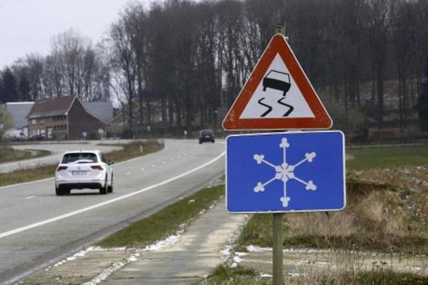 Conditions glissantes attendues sur les routes en provinces de Liège, Namur et Luxembourg