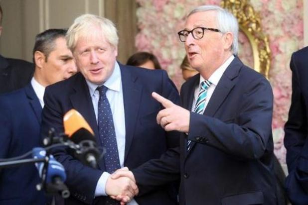 Eerste ontmoeting tussen Juncker en Johnson levert geen witte rook op