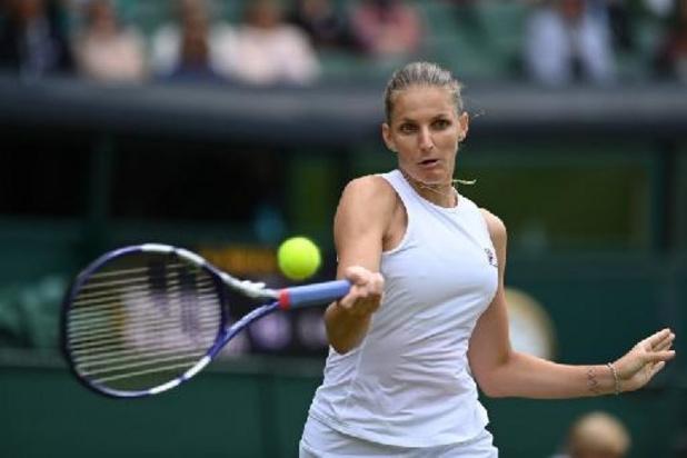 Pliskova vervoegt Barty in de finale Wimbledon