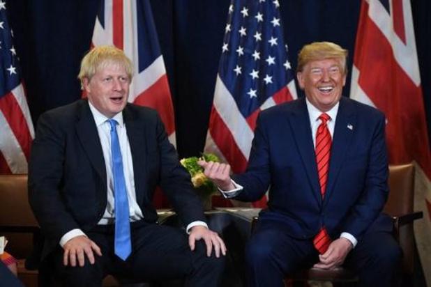Trump: 'Brexitakkoord van Johnson maakt handelsakkoord met VS onmogelijk'
