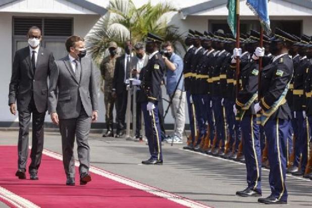 Macron in Rwanda om nieuw begin in relaties te schrijven