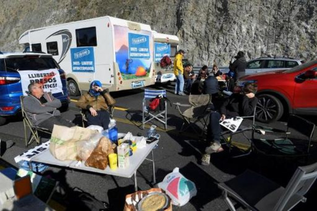 Catalaanse pro-onafhankelijkheidsbeweging blokkeert Spaans-Franse grensovergang