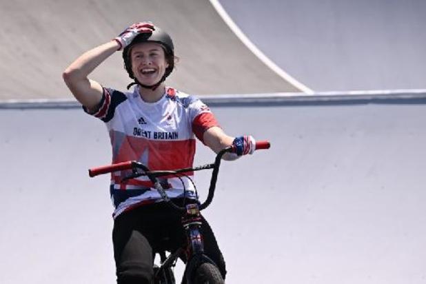 La Britannique Worthington première championne olympique en BMX freestyle