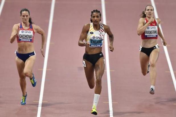 Mondiaux d'athlétisme - Nafissatou Thiam 2e après la 1re journée de l'heptathlon à 96 points de Johnson-Thompson