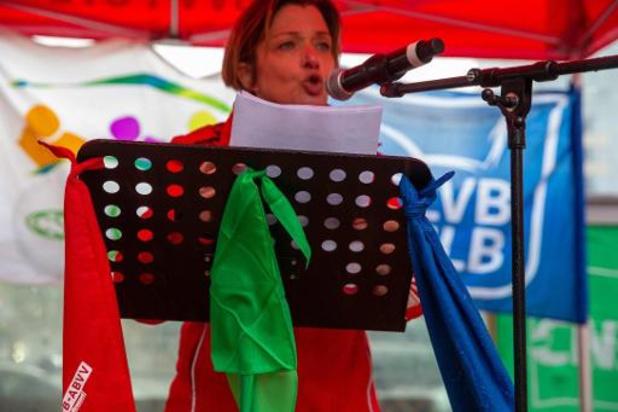 Vakbonden betogen samen in Brussel voor een sterkere sociale zekerheid