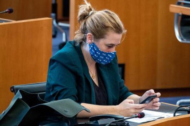 Brussels minister Elke Van den Brandt test positief