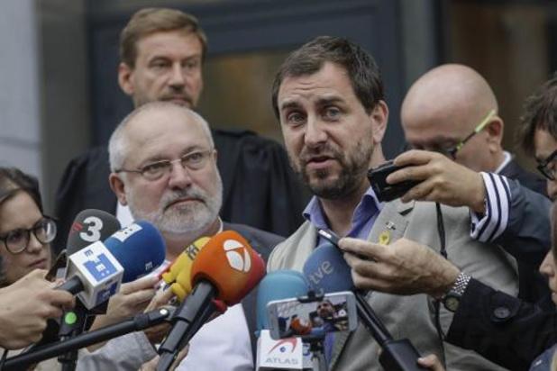 Lluis Puig en Toni Comin bij onderzoeksrechter in Brussel