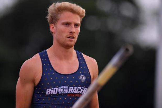 Ben Broeders égale son tout frais record de Belgique à la perche