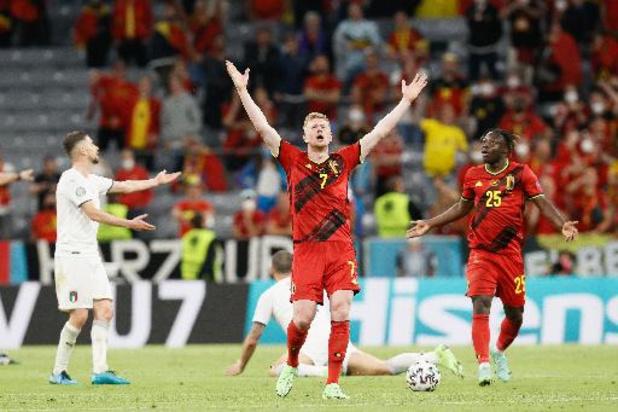 Euro 2020 - L'élimination des Diables Rouges contre l'Italie en chiffres