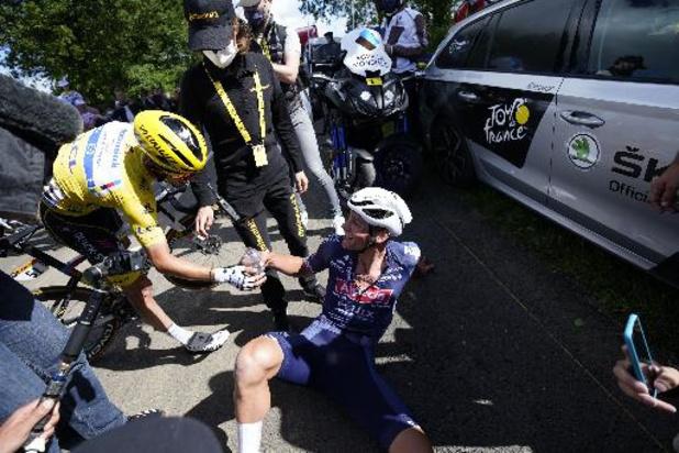 """Tour de France - Avec van der Poel, """"on se tire la bourre mais on s'apprécie"""""""