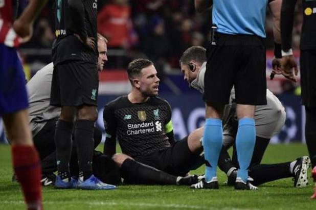 Liverpool moet aanvoerder Jordan Henderson drie weken missen