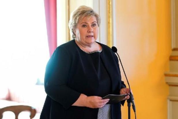 Noorse premier krijgt boete nadat ze coronaregels overstrad tijdens verjaardagsfeestjes