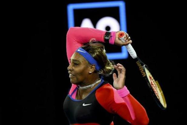 Serena Williams blijft op schema voor 24e grandslamtitel