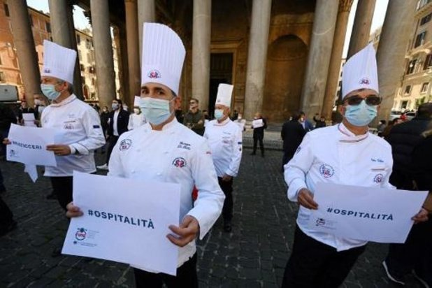 Nieuwe betogingen tegen coronabeperkingen in Italië