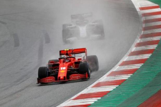 F1 - GP van Steiermark - Leclerc moet drie plaatsen achteruit op de startgrid