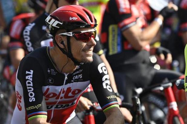 Gilbert start niet meer in BinckBank Tour en geeft forfait voor Ronde en Roubaix