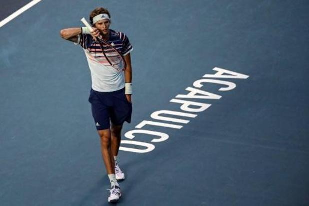 ATP Acapulco: Zverev battu par un qualifié, Nadal avance en quarts