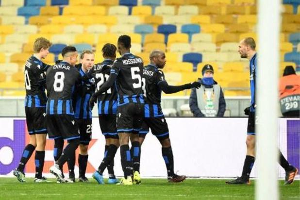 Le Club Bruges obtient un bon partage 1-1 au Dynamo Kiev