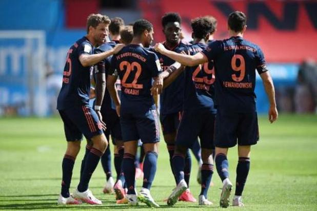 Ook Leverkusen kan stormram van Bayern München niet afstoppen, Leipzig laat punten liggen