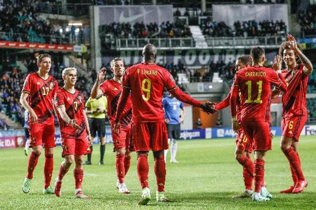 Diables Rouges - Rapidement menée par l'Estonie, la Belgique a inversé la tendance et empoché trois points