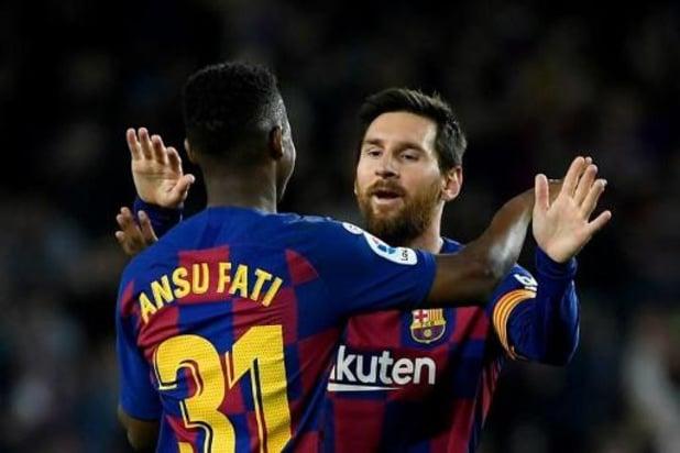 Primera Division - Barcelone bat Levante avec un doublé de Fati