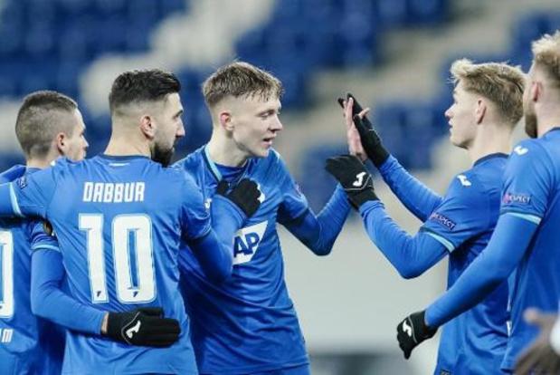 Europa League - Battu à Hoffenheim, Gand est le premier club belge à quitter la compétition sans point