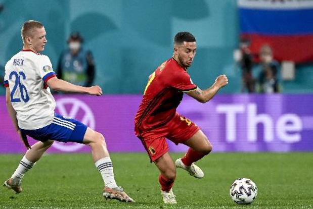 """Euro 2020 - """"Un énorme pas en avant pour Eden Hazard"""", se réjouit Martinez"""