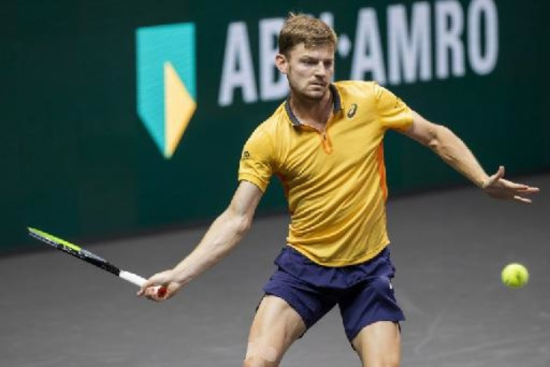 David Goffin face à Marin Cilic au premier tour