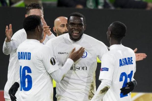 Europa League - La Gantoise s'impose à Wolfsburg (1-3) et prend la tête du Groupe I