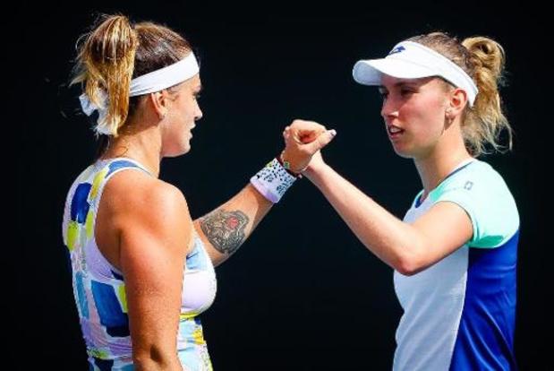 Open d'Australie: Elise Mertens en quarts de finale du double avec Aryna Sabalenka