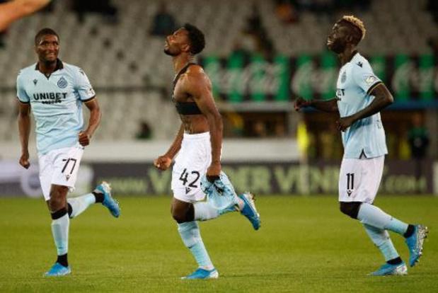 Jupiler Pro League - Le Club Bruges remporte le derby de la Venise du nord face au Cercle