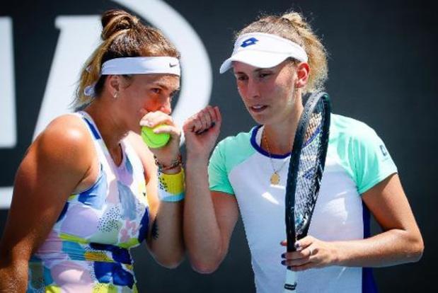 WTA Ostrava - Elise Mertens blijft ook in dubbelspel winnen