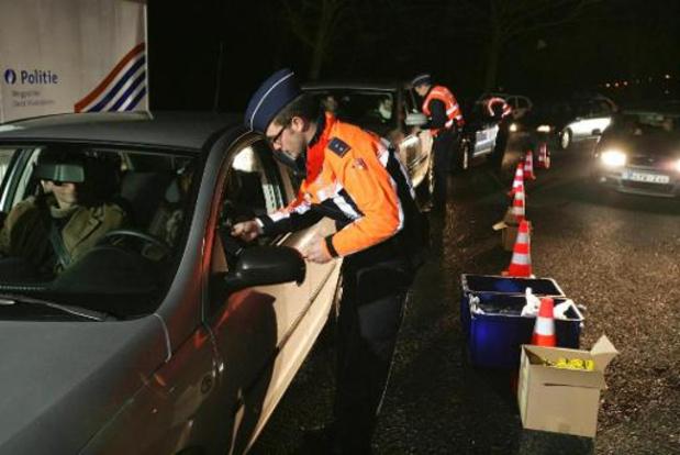 La police mènera des actions de contrôle à l'occasion du weekend sans alcool