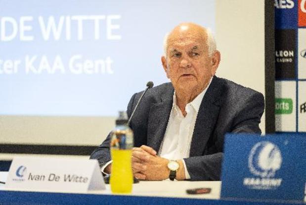 AA Gent-voorzitter De Witte wil met positieve gedachten aan nieuw seizoen beginnen