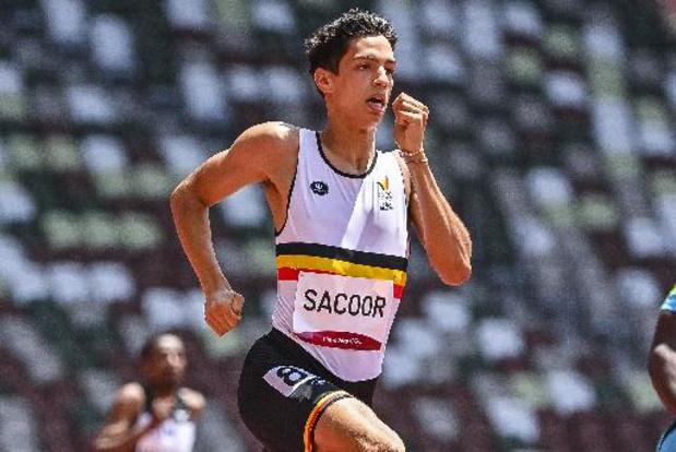 Jonathan Sacoor grijpt naast finaleplaats op 400 meter