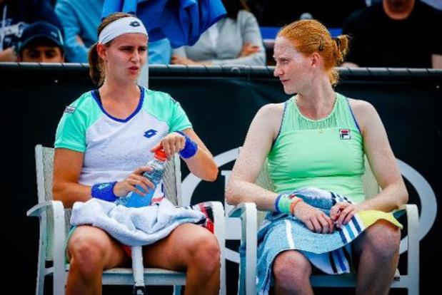 WTA Istanboel: Van Uytvanck en Minnen stranden in kwartfinales dubbelspel