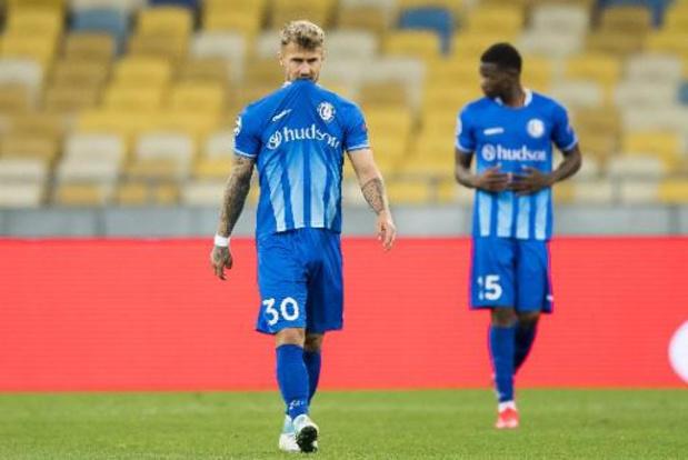 igue des Champions - Pas de C1 pour La Gantoise, battue par le Dynamo Kiev et versée en Europa League
