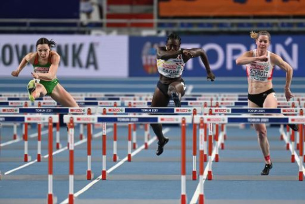 Anne Zagré en Eline Berings bereiken halve finales 60m horden
