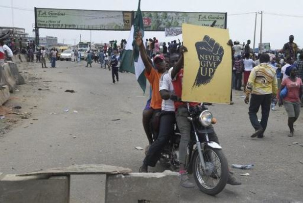 Verschillende manifestanten gedood door ordediensten in Nigeria