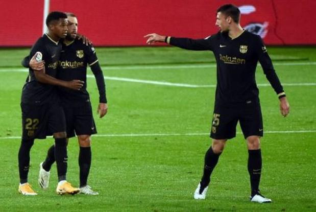 La Liga - Barcelona wint ondanks vroege rode kaart ook tweede competitieduel