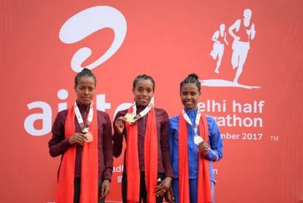 L'Ethiopienne Ababel Yeshaneh bat le record du monde du semi-marathon
